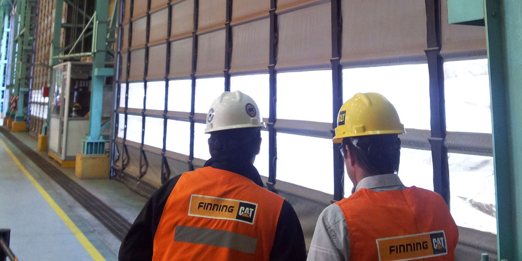 Flexible folding doors for the mining industry