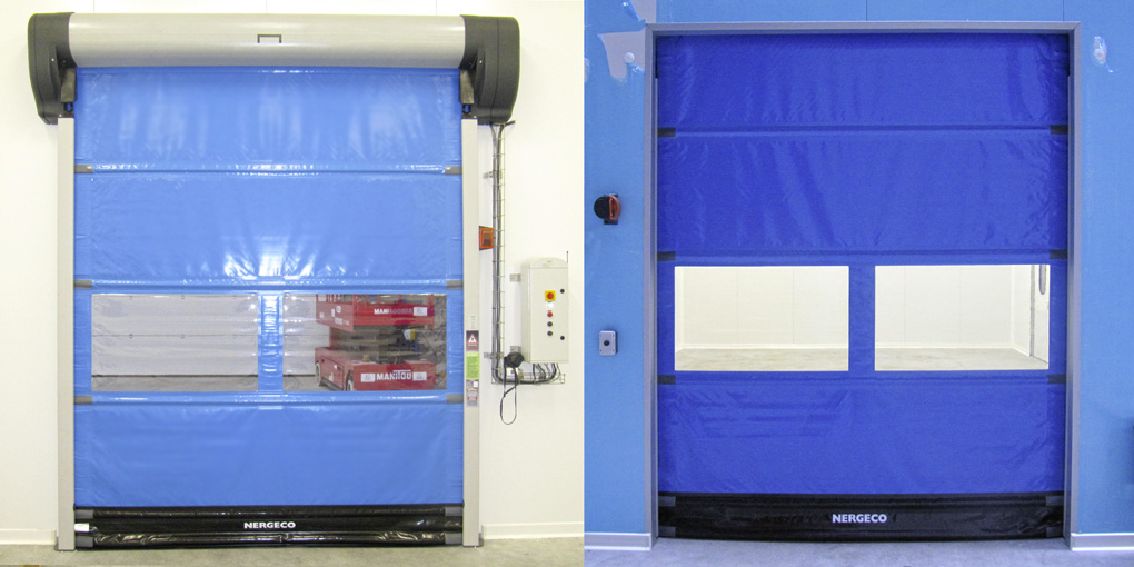 High-speed flexible door in clean room