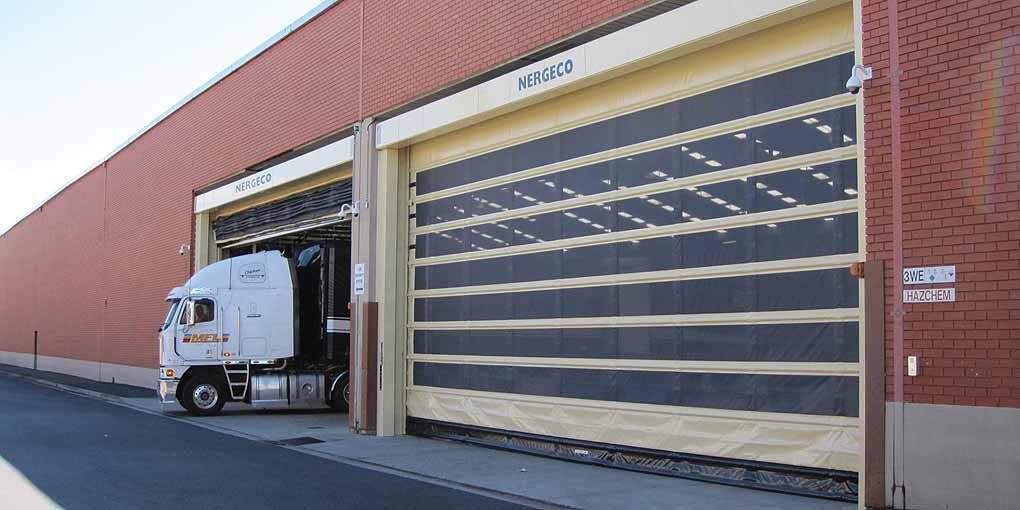 High speed doors in large dimensions at Melbourne Australia