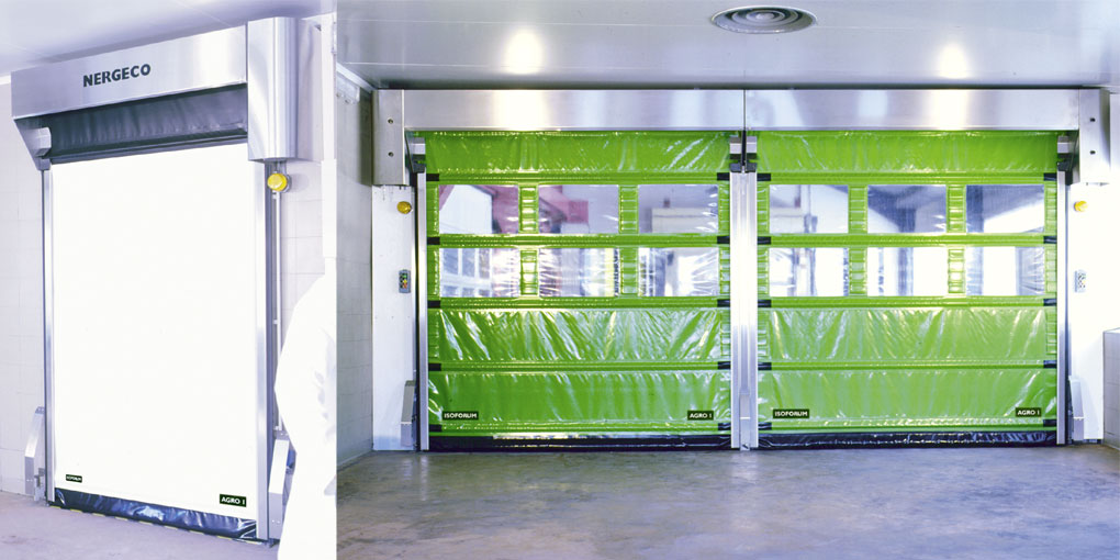 Stainless steel high speed doors