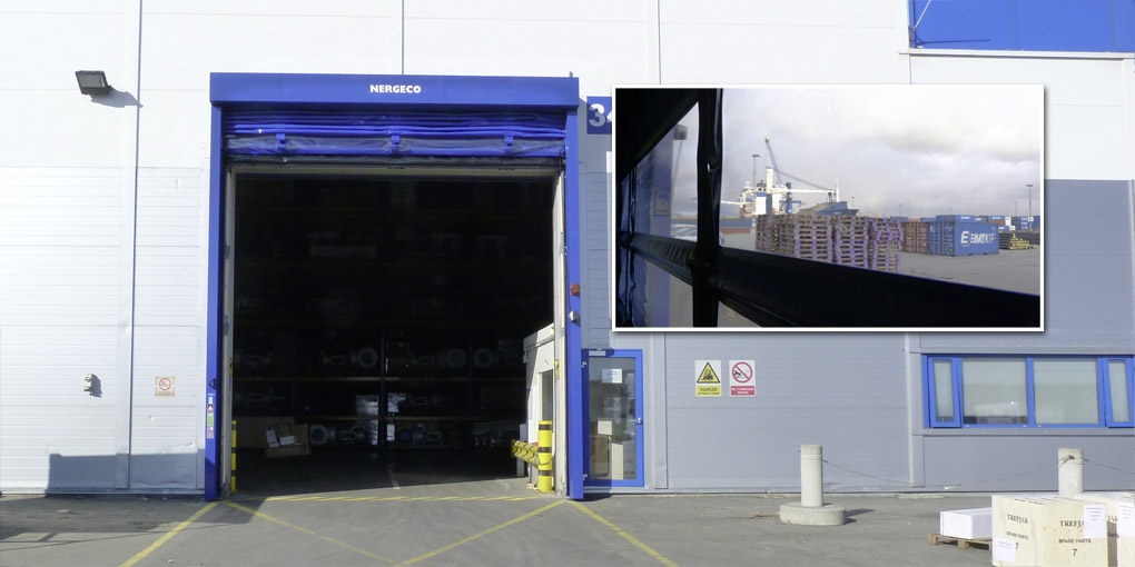 Large-dimension high-speed doors facing the North Atlantic