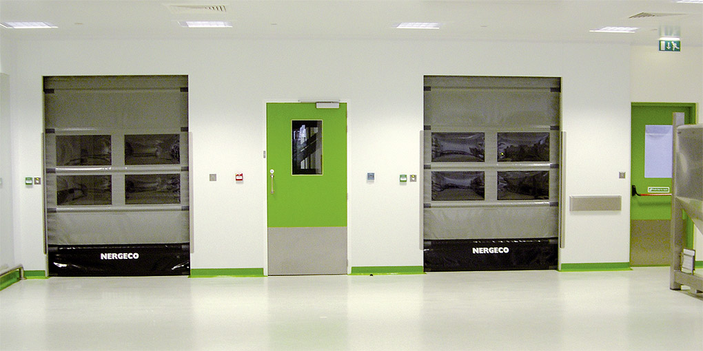 Automatic doors in clean environment
