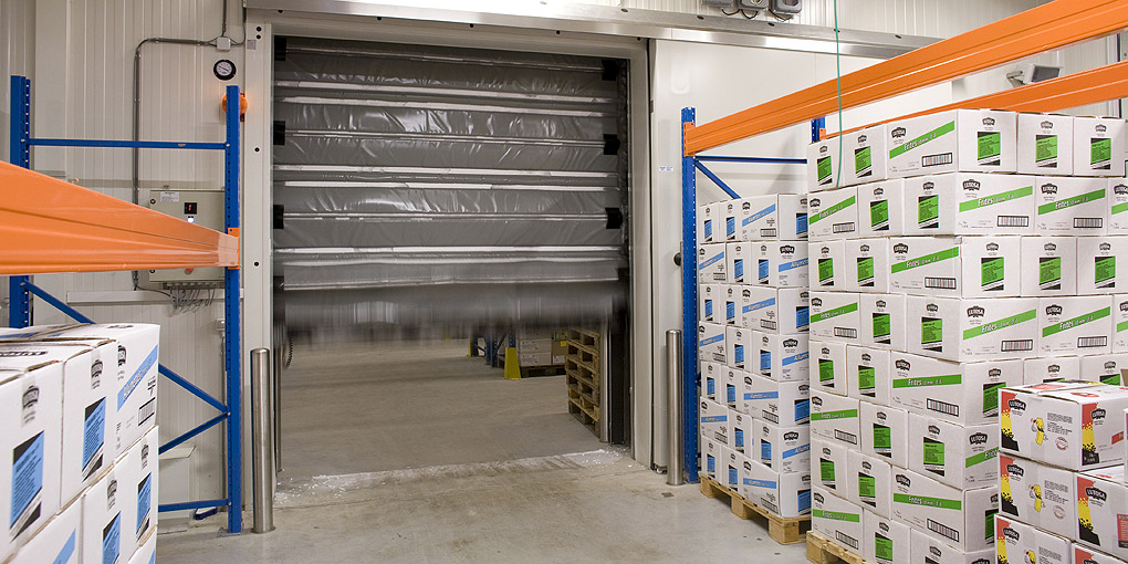 High performance high speed flexible cold storage doors